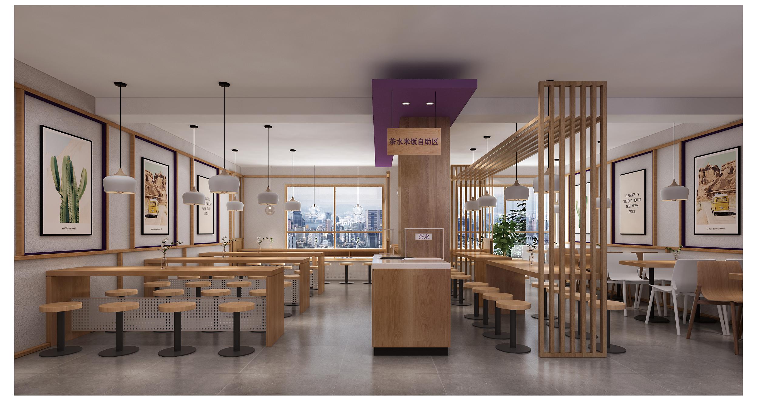 上海马同学快餐店设计